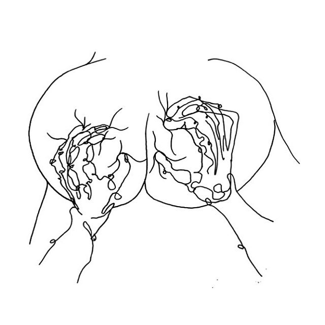Have a happy weekend everybody! Here's a juicy doodle by artist John William Bosch. #doodle #boobs #weekend