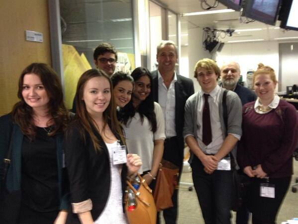 Journalism and media studies students visit the ITN studios courtesy of economics alumnus & ITV News Editor Richard Frediani