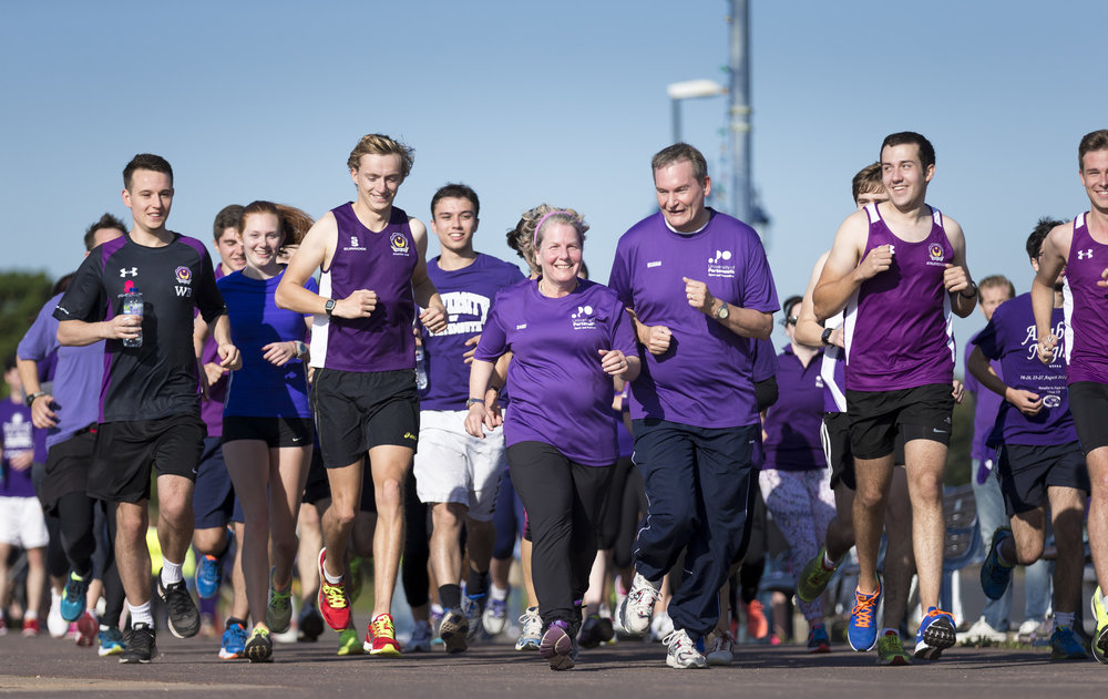 University Chancellor Sandi Toksvig at the Southsea parkrun