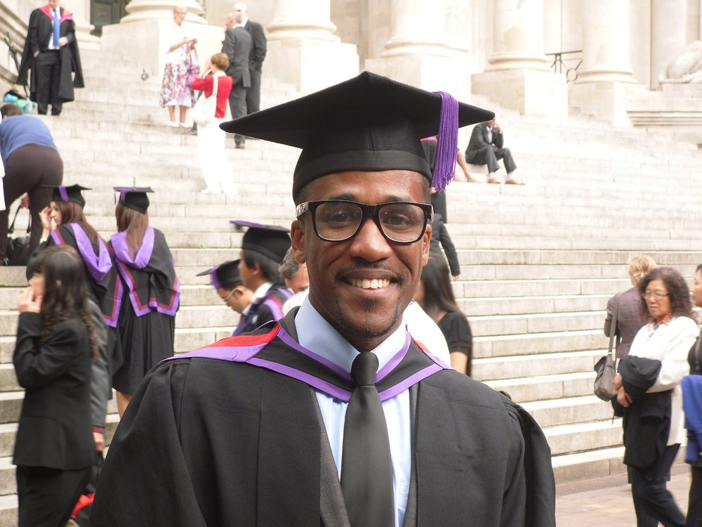 "Ndubuisi Aja, 2012 -   ""It was a big day for me! I captured the whole day on video, from dressing up in the Sports Hall right until the second when I was called up on stage. I remember the Vice Chancellor had a problem pronouncing my complex name on stage, which made the moment rather amusing."""