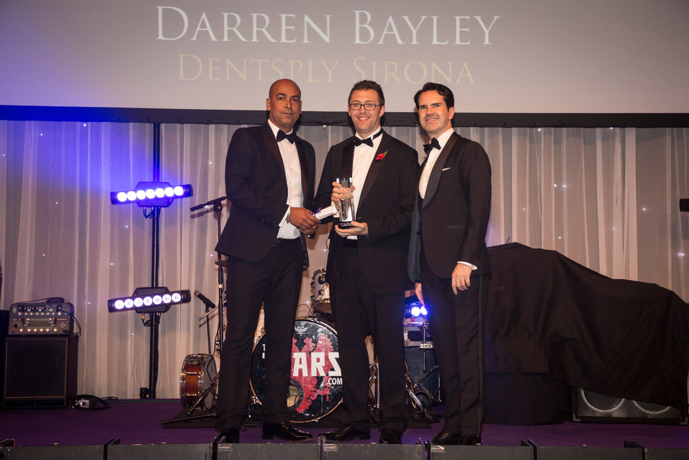 Darren accepting his BESMA award