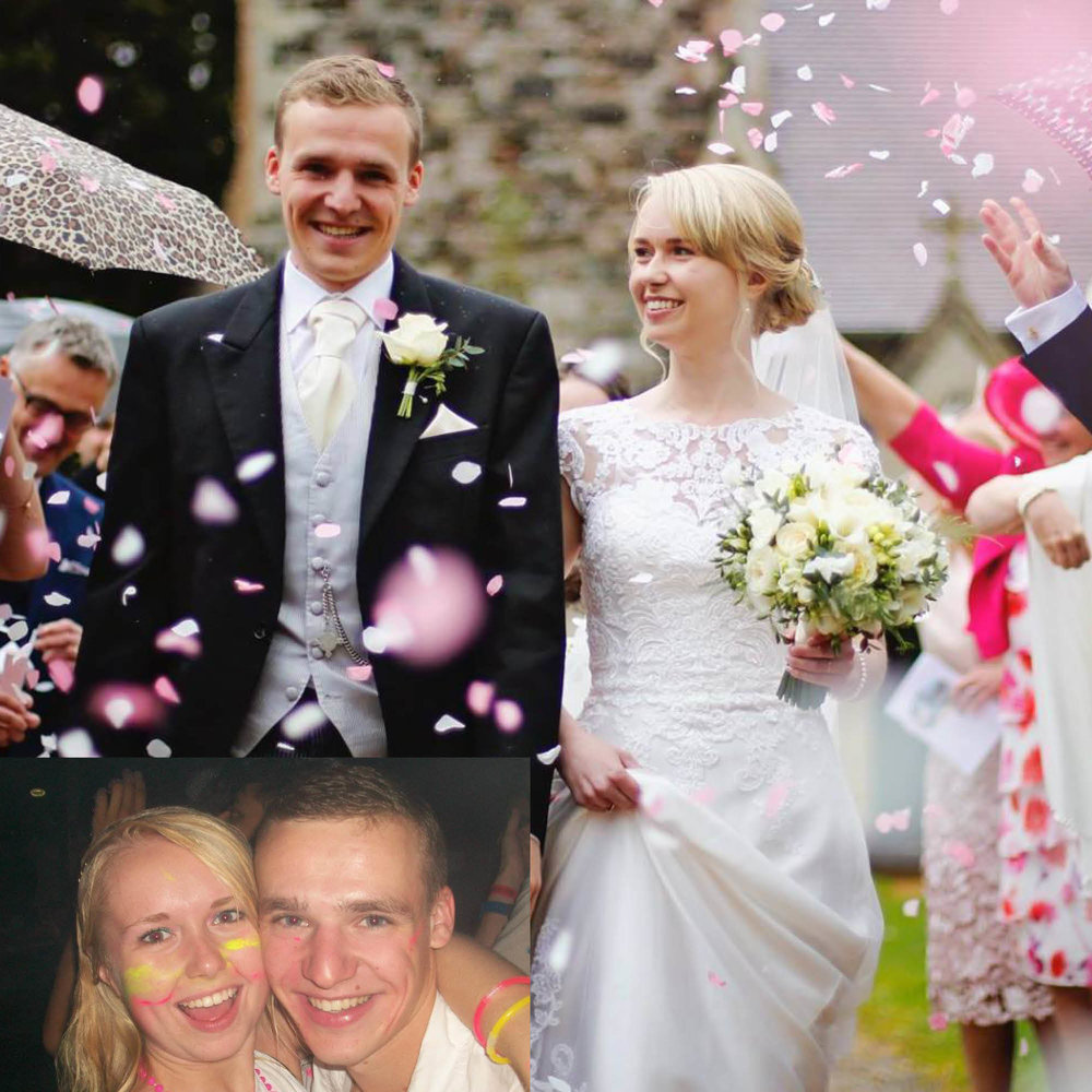 Mike and Lizzie Williams - ...both 2015 graduates, met in the corridor of Rees Hall on the first day of coming to University in September 2011. Mike studied Computer Science and Lizzie studied Spanish. They're newlyweds after getting married in April this year!
