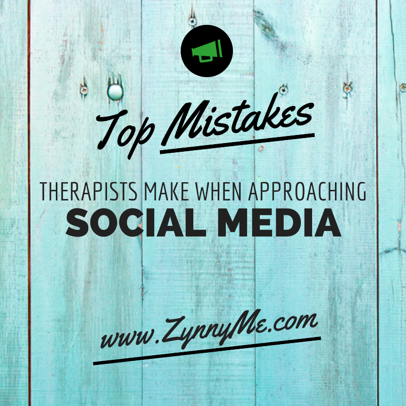 Top mistakes therapists, psychologists and mental health professionals make when using social media.