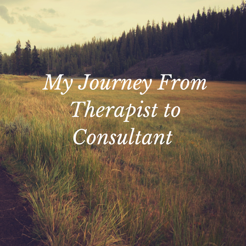 Therapist turned consultant
