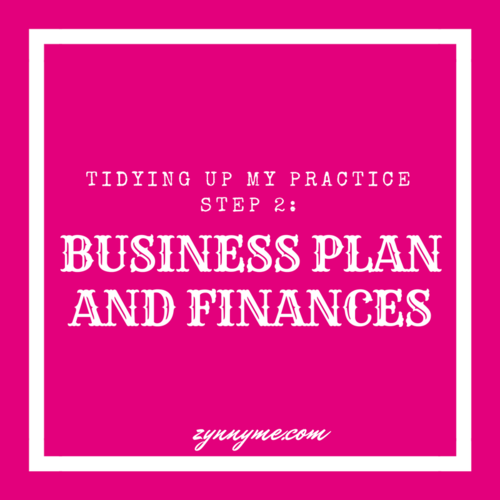 Tidying Up My Practice Step Business Plan And Finances - Private practice business plan template