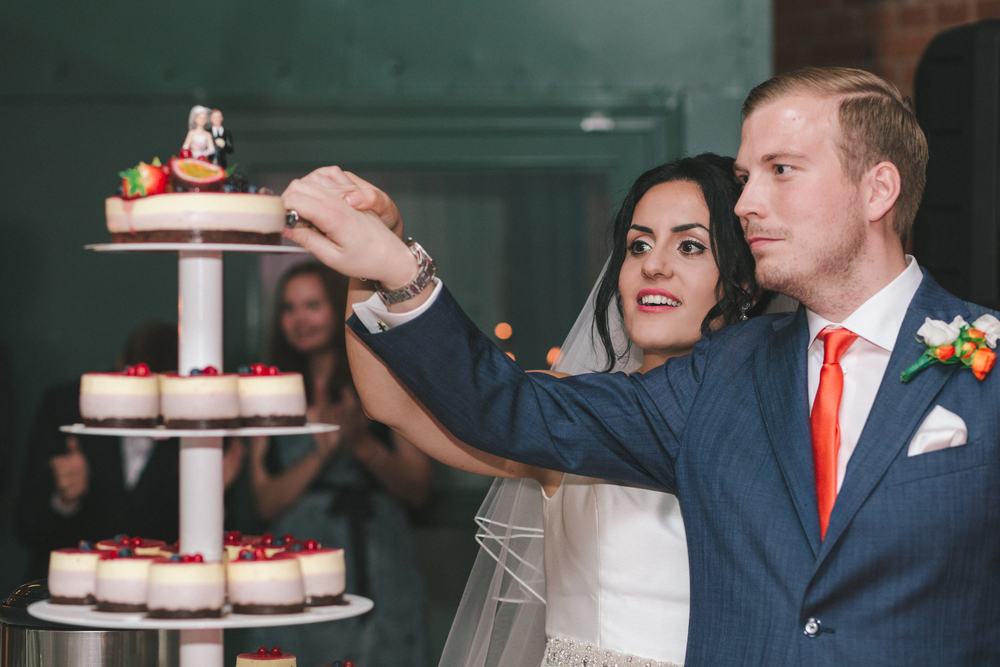 Bröllopsfotograf i Stockholm tårta
