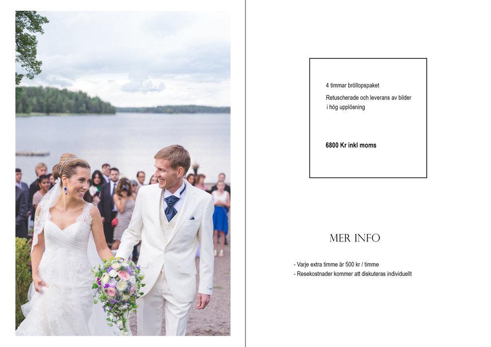 Bröllopsfotograf pris