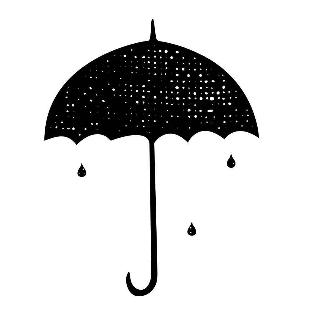 Amazon.com | totes Auto Open Wooden Stick Umbrella, Black, One ...