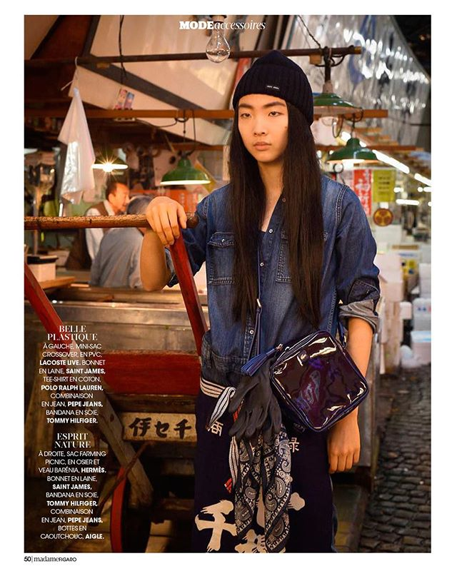 築地市場も無くなってしまったので良き思い出になった。 Photographed by @chantalstoman  Photographer assistant by @munehiro_hoashi  Hair and makeup by @chika_tadokoro_mua  Model @yurinagamine  #tsukijifishmarket #fashion #fashionphotography #makeup #makeupartist