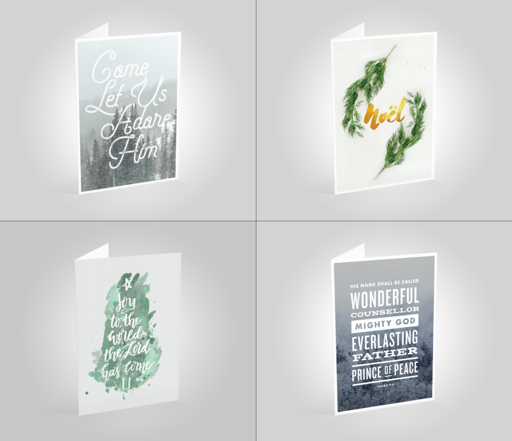All Designs mixed Pack of 8 Christmas Cards — Manchester House of Prayer