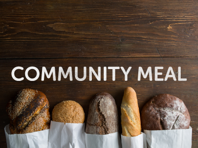 - Our Community Meal is coming up on Saturday 17th February.  This is a bring and share and everyone is welcome! It's at Michael and Becci's from 6pm and then we'll worship together later on.Full details at mhop.org.uk/community-meal