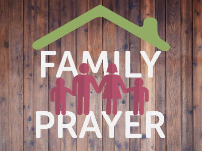 - We want to see families praying and worshiping together and we want it to be fun!  Join us Mondays from 4.30pm from worship and prayer led by different families each week!