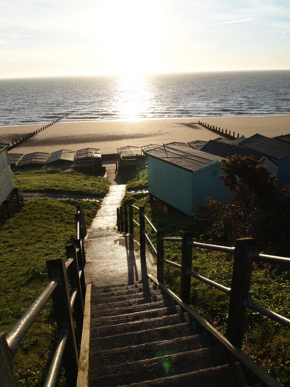 Frinton beach early in the morning
