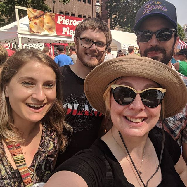 Pierogis & potato pancakes at Polish Fest, cat cafe, and (not pictured) MN's largest candy store = #SundayFunday #Latergram