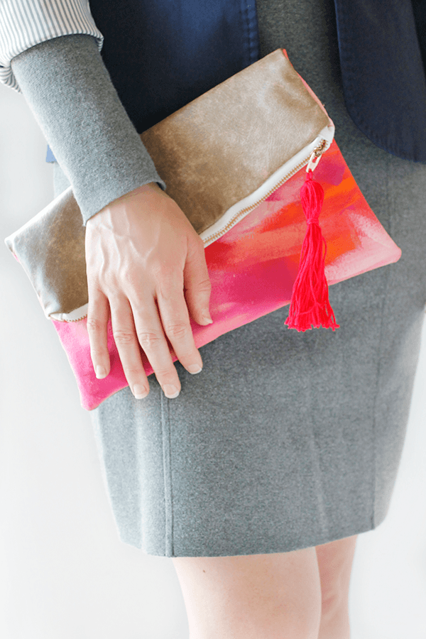 DIY Folded Clutch