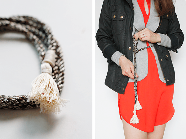 DIY J Crew Inspired Rope Belt