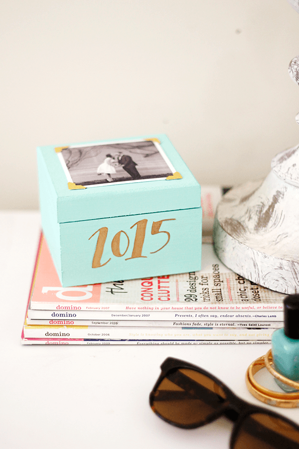 A pretty little DIY memory box for storing all your mementos