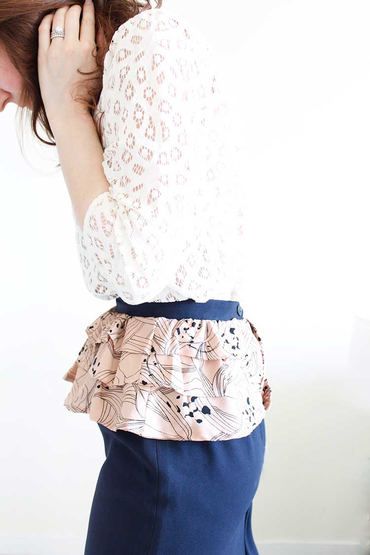 DIY Pretty Peplum Skirt