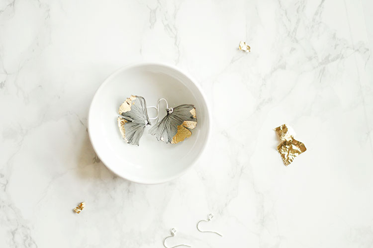 DIY Ginkgo Leaf Earrings