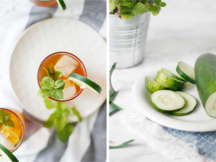 A twist on boring iced tea. This homemade cucumber mint iced tea is perfect for staying cool when it gets hot outside.