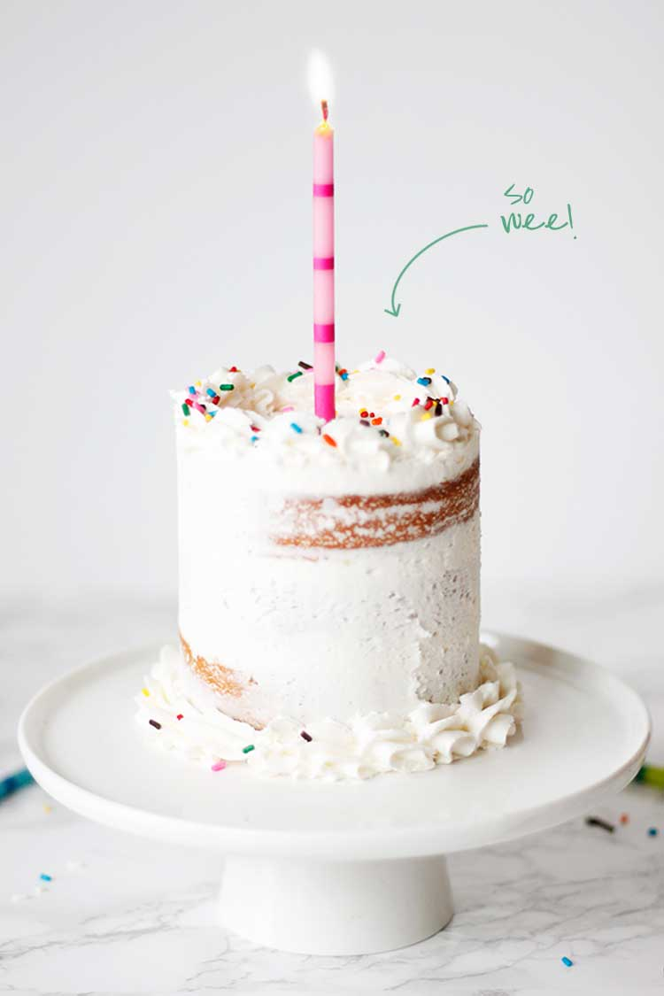 Making Mini Birthday Cakes | Wellnesting