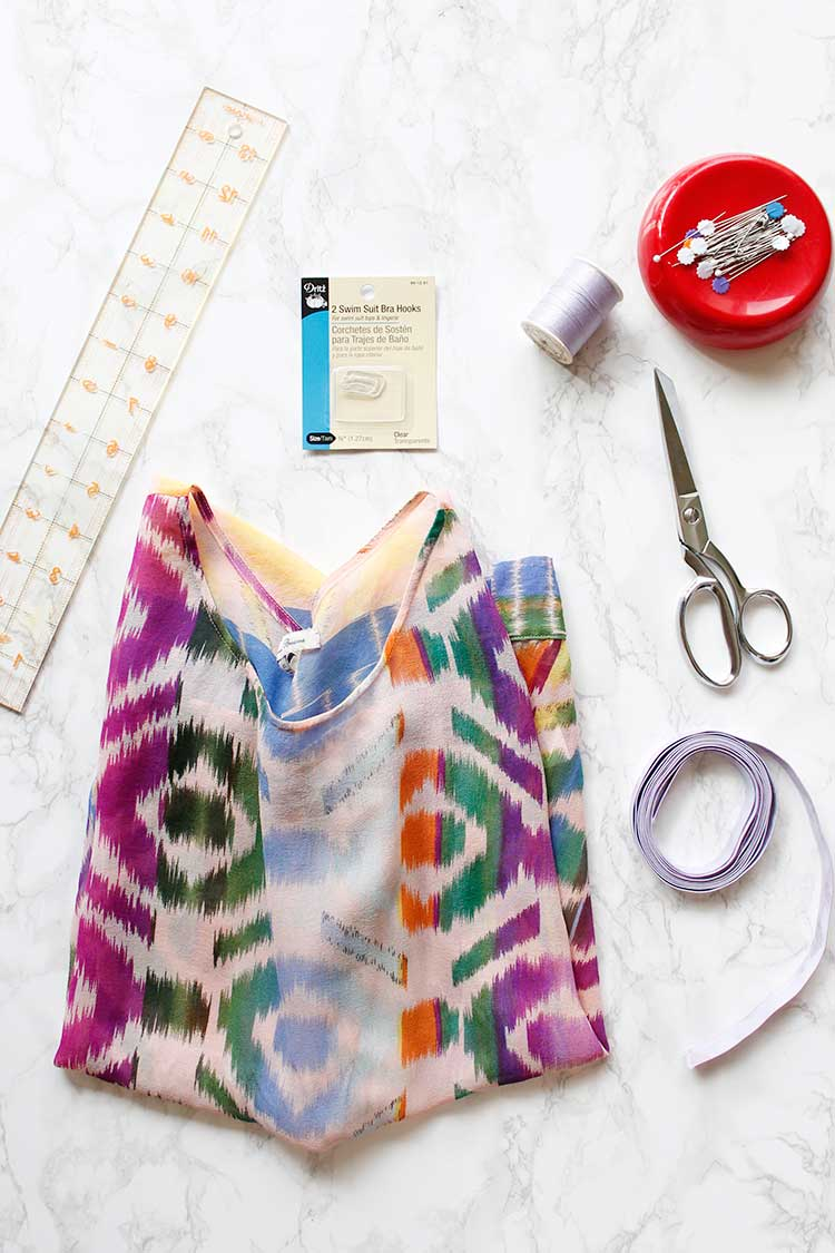 How to make a Simple Bralette from an Old Shirt | Wellnesting
