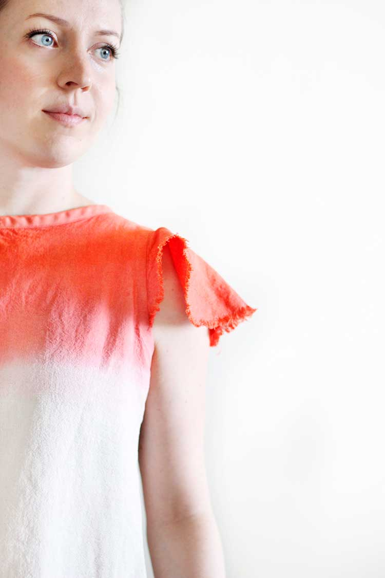 DIY Dip Dyed Linen Top | Wellnesting
