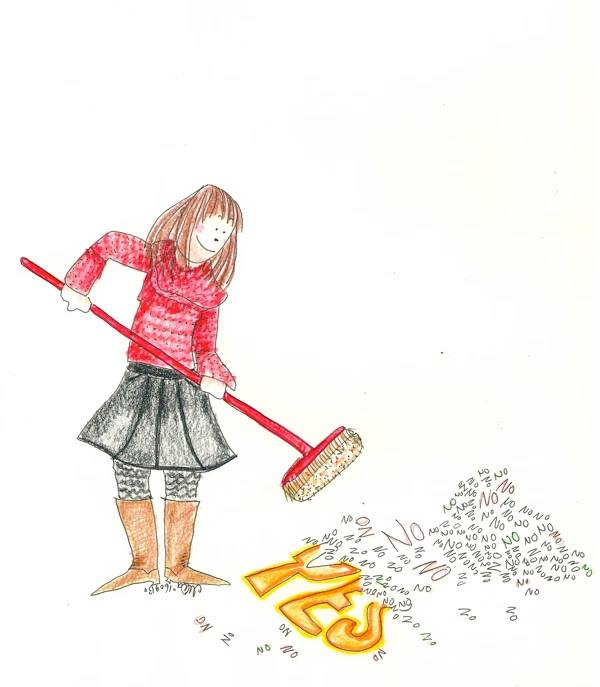 Girl Sweeping Away No.