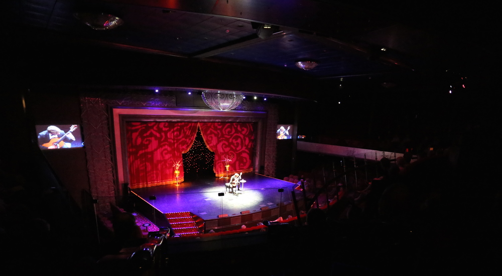 Performing in the Royal Court Theatre aboard the Queen Mary 2