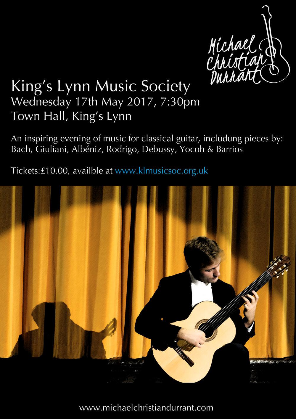 King's Lynn Music Society, Wednesday 17th May 2017