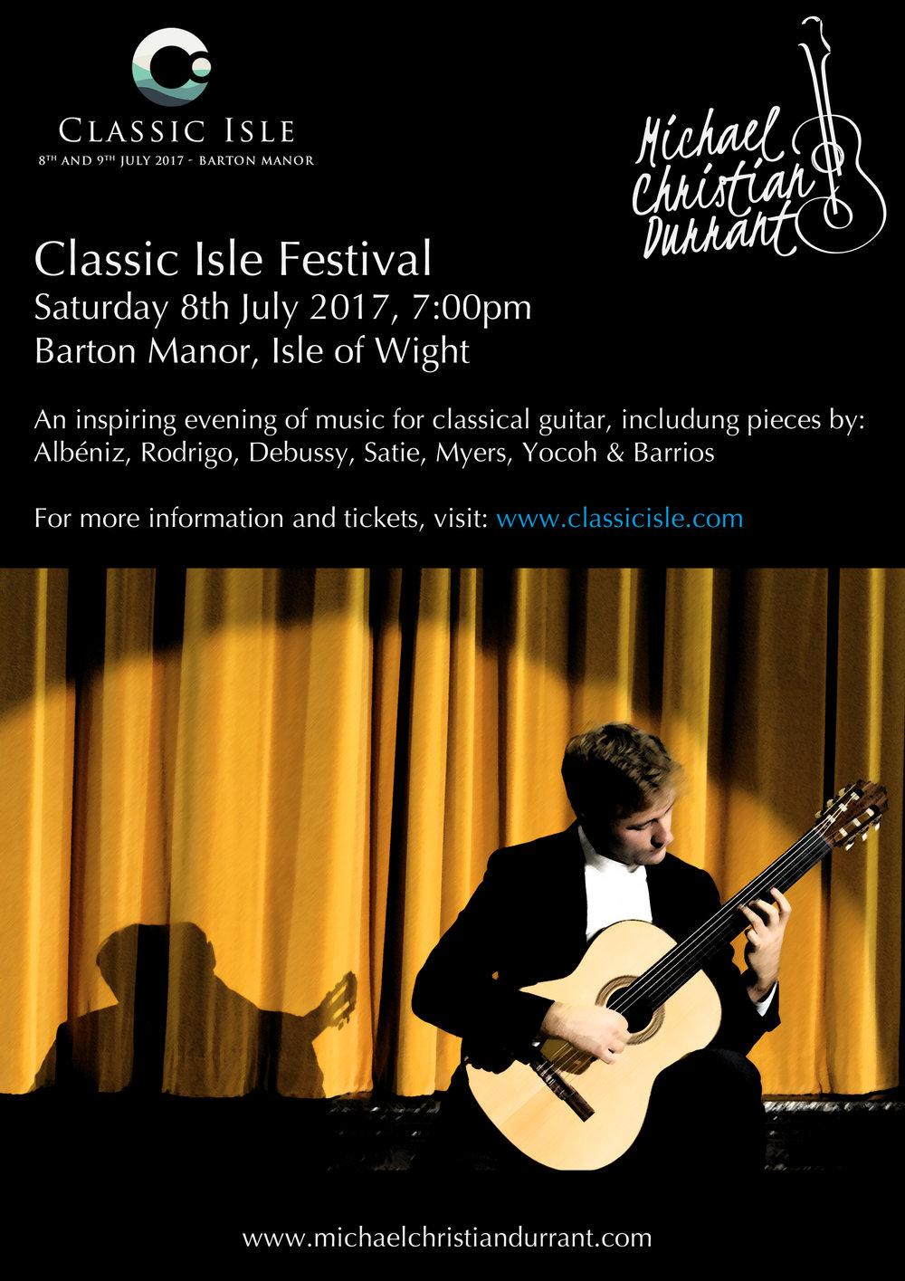 Classic Isle Festival, Saturday 8th July 2017