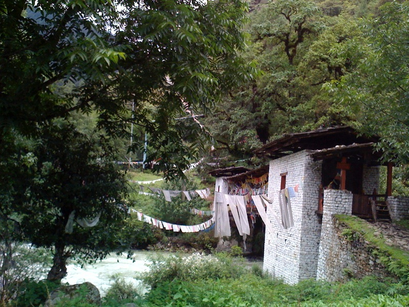 On the way to Cheri Monastery outside of Thimphu.