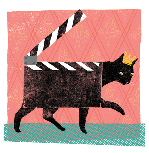 La popularité des films de chat sur le web /  The buzz over cat movies on the internet   Client : Magazine L'actualité
