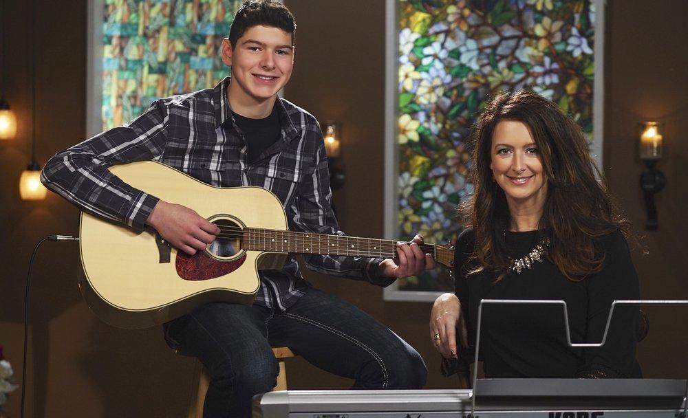 Anna and her teenage son Luke.