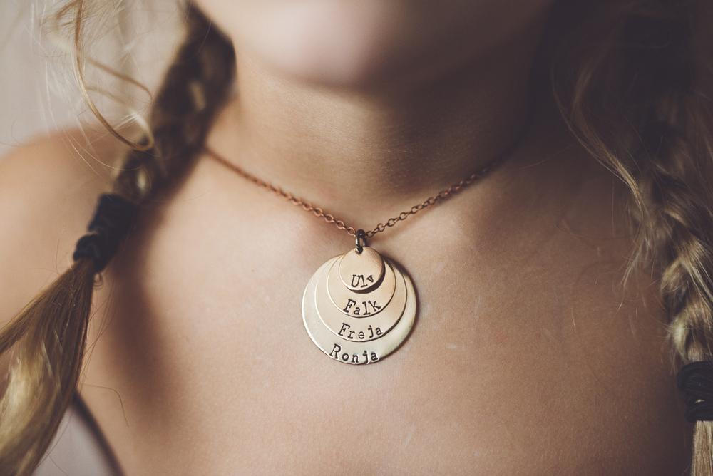 My lovely necklace modelled by my lovely girls