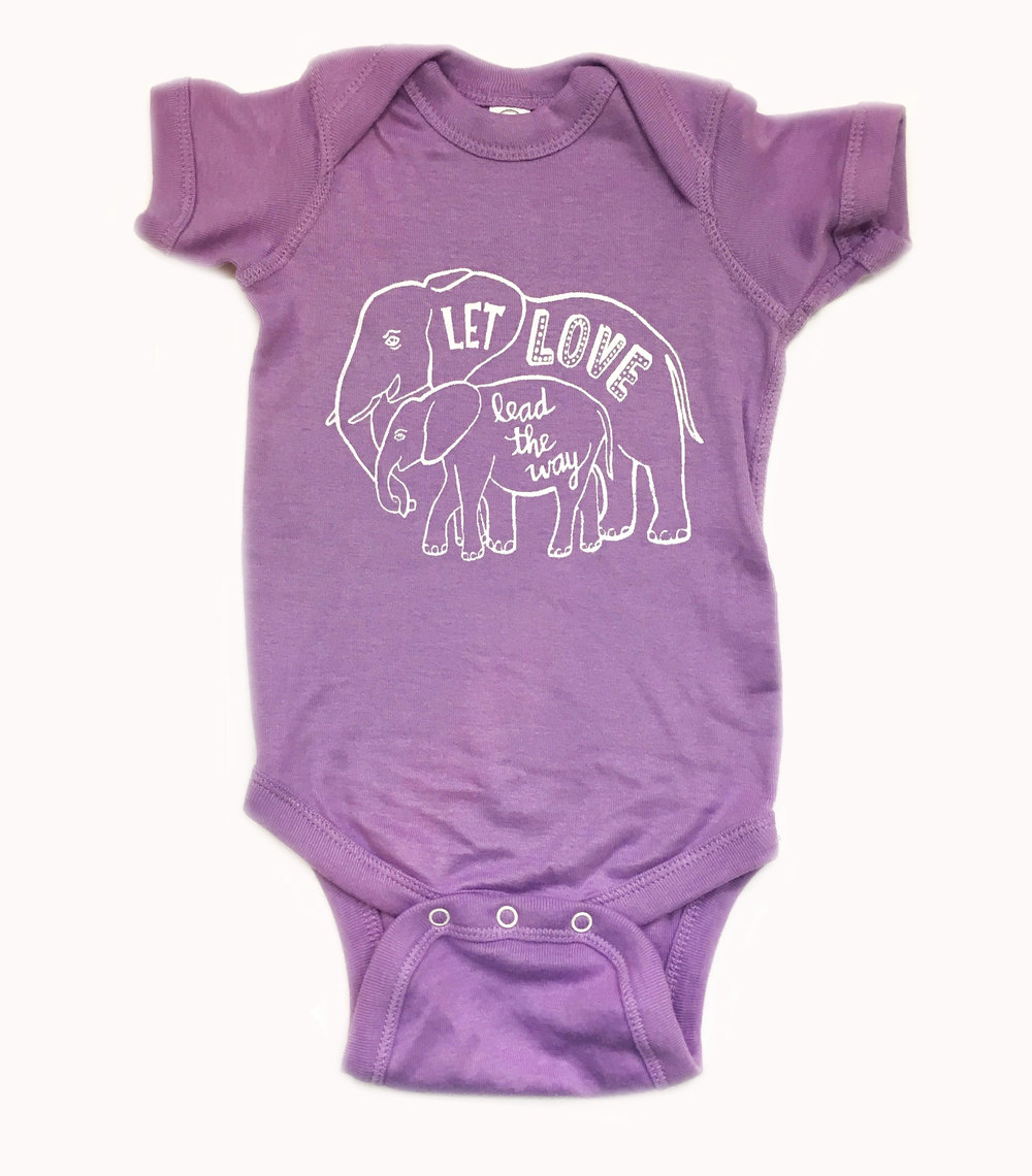 Elephant Love Infant Onepiece