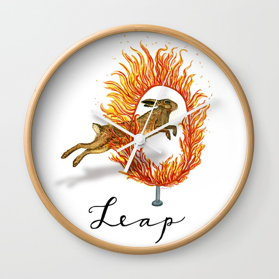 """Leap of Faith"" wall clock"