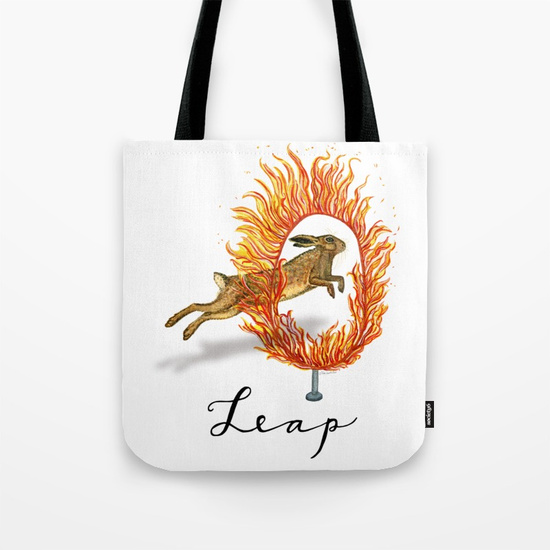 """Leap of Faith"" tote bag"