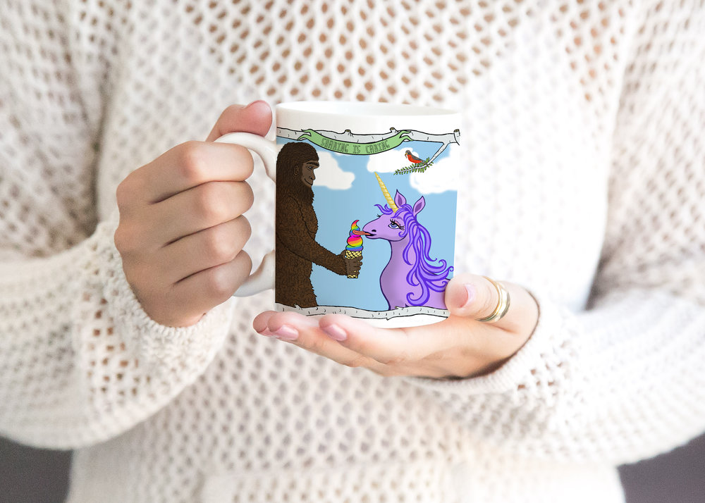 Sasquatch and Unicorn Mug