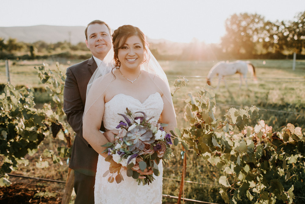 Mamie + Jon | Tucannon Cellars Winery