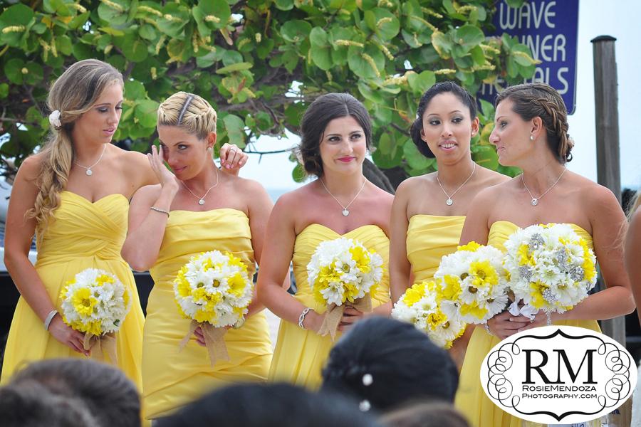 Miami-Beach-Newport-Beachside-Hotel-and-Resort-Wedding-bridesmaids-yellow-bouquets-photo