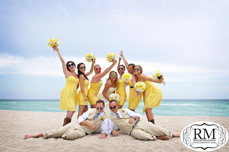 Beach-Wedding-Bridesmaids-Portrait-photo