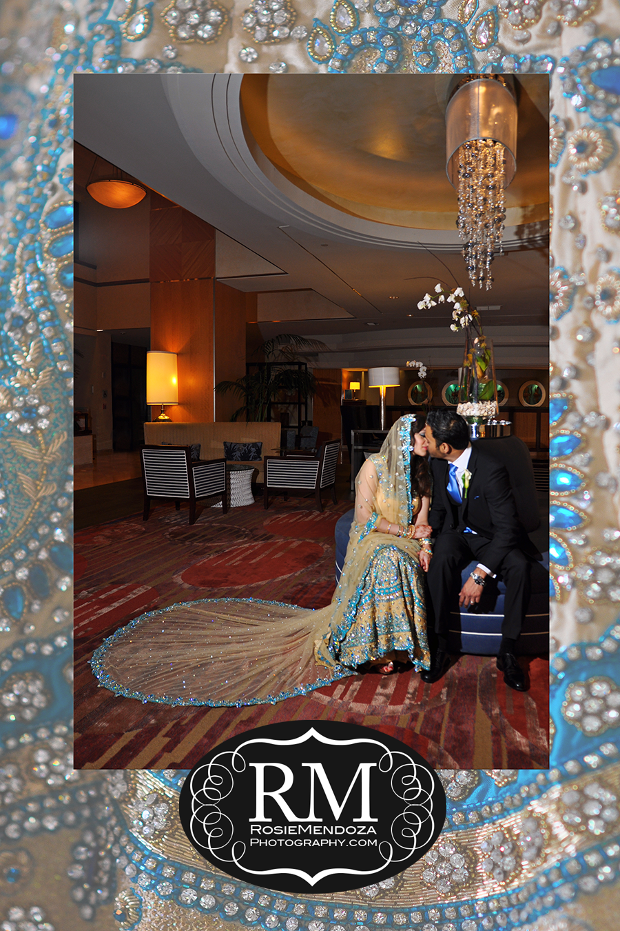 Fort-Lauderdale-Harbor-Beach-Marriott-Resort-and-Spa-Destination-Indian-Wedding-first-kiss-photo