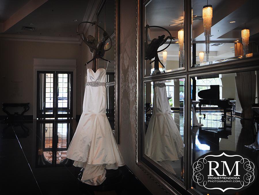 Wedding dress portrait. Gorgeous!
