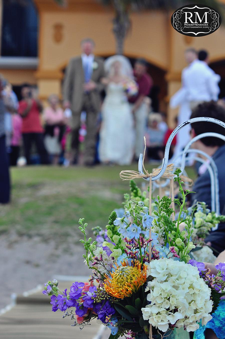 Wyndham-Deerfield-Beach-destination-wedding-bride-walking-down-the-isle-photo