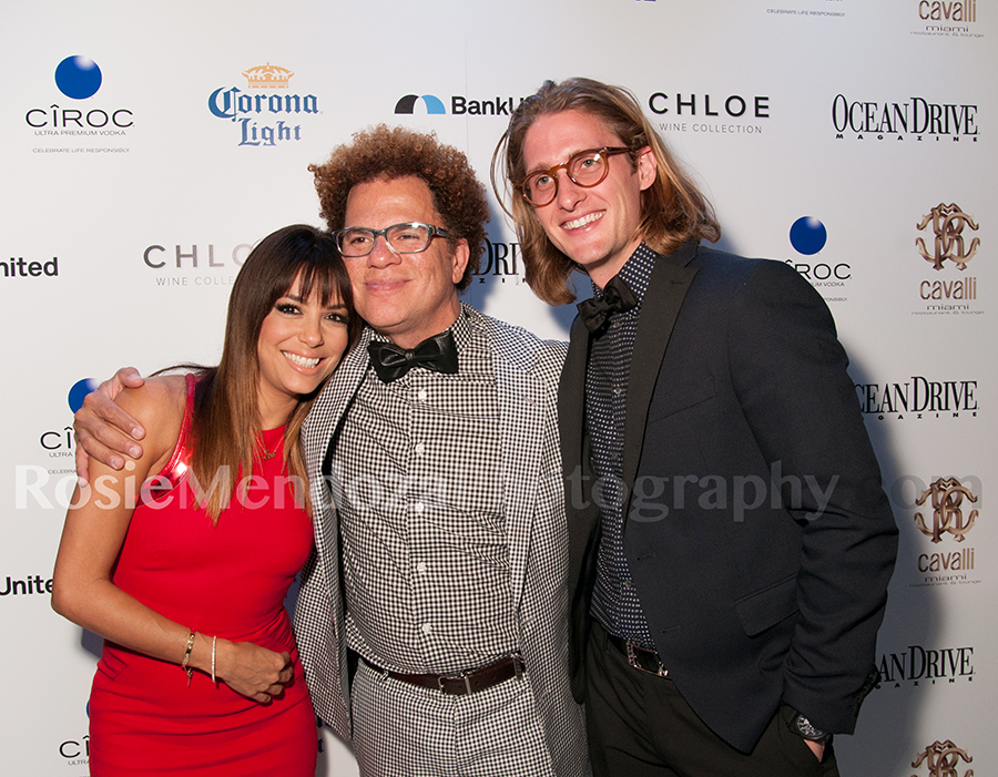 Eva Longoria, Romero Britto and Colin Watson