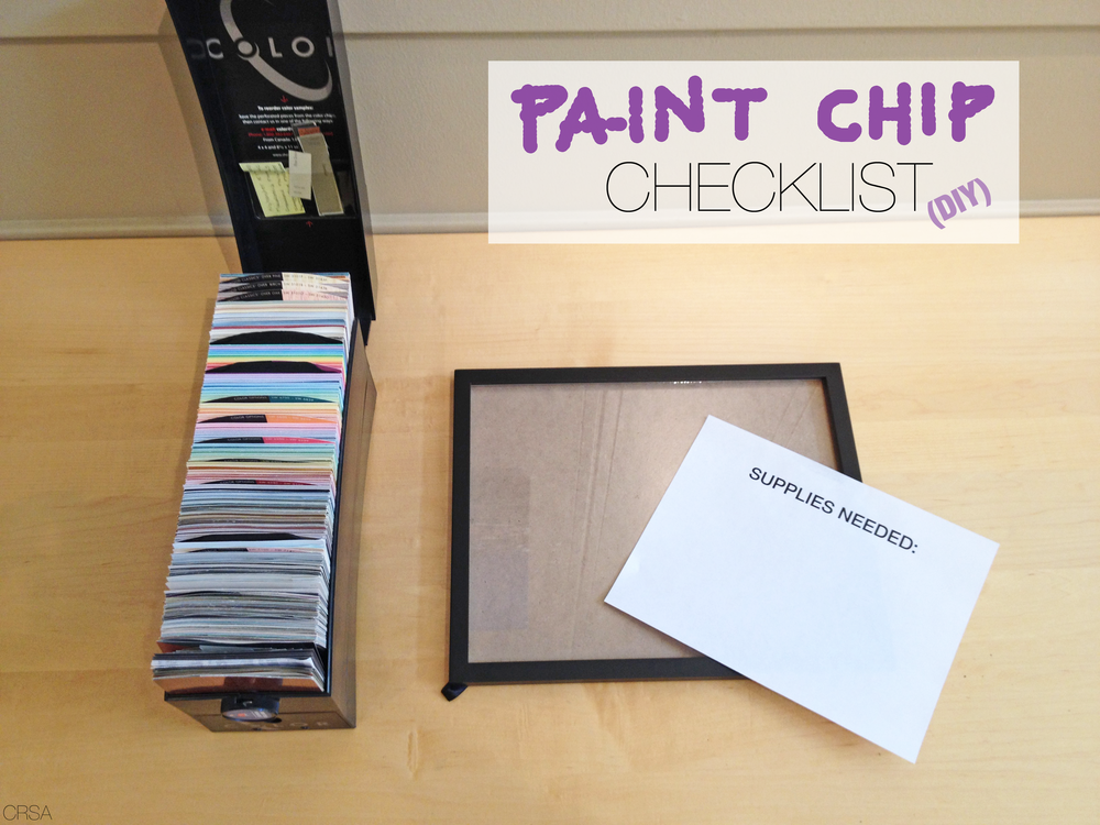DIY paint chip checklist