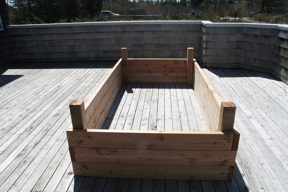 Raised Garden Bed Under Construction.JPG