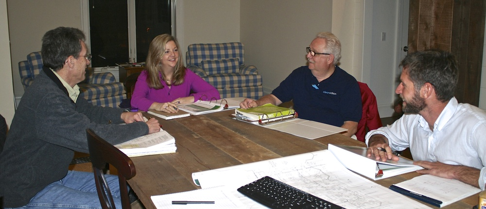 Team members: Architect, Bill Heine: LEED AP Homes, Kathryn Cannon; LEED Green Rater, Rich Manning; and Builder, Chris Mensch