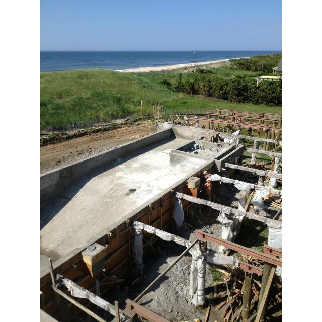 Gunite Pool Under Construction (photo courtesy of Tortorella Group)